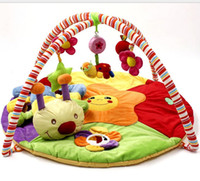 Cotton baby soft blanket with toy - Baby play mat colourful game blanket with fitness rack crawling rugs educational toys activity carpet musical play gym mat