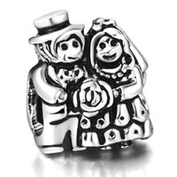 beads and charms - Happy Bridegroom And Bride Beads European Charms Fit For Sterling Silver Snake Chain Bracelet DIY Jewelry