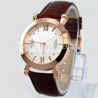 battery box sizes - Hot Sale New Model Fashion Man Watch Leather watch for Women lover wristwatches Table Quartz watch sizes box