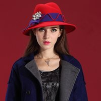 Wholesale Women Winter Hats Sexuality Dress Wool Felt Hat Natural Wool with Korean tide handmade leisure fashion