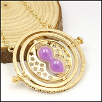 alloy magic - 2015 harry potter Time Turner necklace Jewelry magic hourglass neck chain pendants Hermione Granger Rotating Spins chains J081303