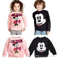 Cheap NWT Baby Kids Boys Girls Mickey Minnie Mouse Shirts Hooded Sweater Hoodies 2-7T