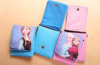 Wholesale Christmas Frozen mobile cell phone tablet pc bags children school bags beach backpack kids wallet hand bag shoulder bags with belt