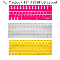 Wholesale US Layout Keyboard Protector Cover Case Skin for Apple Macbook quot inch A1534 New Multi Color For Choose