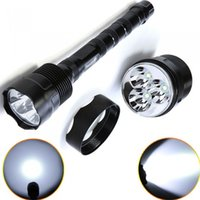 Wholesale Ultra Bright Lumen TrustFire T6 LED Flashlight CREE XM L T6 LEDs Torch Switch Mode White Light for Battery