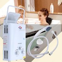 Portable 6L GPL Propane Gas Tankless Chauffe-eau chaude instantanée chaudière instantanée CE A3