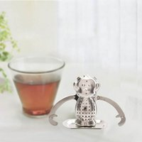 Wholesale Stainless Steel Monkey Loose Tea Leaf Infusers Convenient Cute Strainer Filter Diffuser Tea Tools Lovely