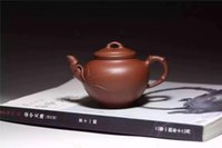 antique arts and crafts - Specially Hand made Clay Teapot with Bamboo Patterns Crafted by Masters Boccaro Teapot for Arts and Crafts