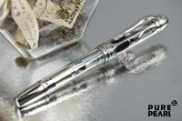 art loose - MB Patron of Art Series High Quality Stationery Pope JULIUS II Limited Edition Transparent Barrel Silver Clip and Trim Embossed Fountain Pen