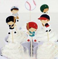 baseball party favors - 48pcs Baseball Boy Everyone s Hero cupcake toppers picks decoration for kids birthday party favors Decoration supplies