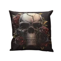 Cheap Wholesale-NEW ARRIVALS pillow covers New Sofa Bed Decorative Throw Pillow Covers Room Decors skull Cushion Covers H3217