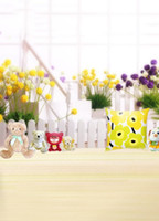bear culture - 200cm cm ft ft Fundo Flower Pillow pot culture Toy bear phoptography backdrop background for photo studio AY