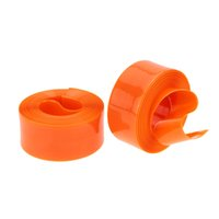 Wholesale 2Pcs Anti pressure MTB Road Bike Bicycle Tyre Liner Band Tube Protector mm Orange PU Prevent From Puncture