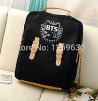 Wholesale Korea boy band BTS Schoolbag Unisex Bangtan Boys Backpack bags girl Rap Monster JIN SUGA J HOPE JIMIN V