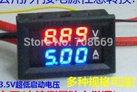 Wholesale V A Voltage Voltmeter Ammeter in1 DC Volt Amp Dual Display Panel Meter Red Blue Digital LED