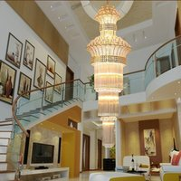 Wholesale Modern stairs long chandelier crystal chandelier penthouse floor staircase hall bedroom villa chandelier crystal chandelier