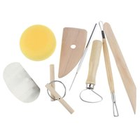 Wholesale 8Pcs Set Wax Clay Pottery Shapers Carvers Polymer Clay Tools Sculpting Craft Hobby DIY Tools
