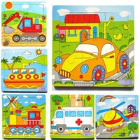animal transport vehicles - Cartoon Transport Vehicles Intellectual Puzzles Colors Wooden Kids Child Jigsaw Toy