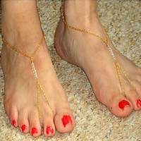 Wholesale 2015 Hot New Women Girls Toe Chain Handmade Beaded Anklet Foot Bohemian Beach Beads Bracelet Drop Shipping Gifts