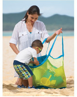 beach bedding set - extra large sand away beach mesh bag Children Beach Toys Clothes Towel Bags baby toy collection bag Lowest price