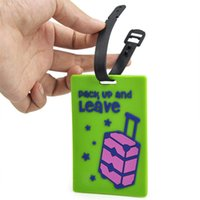 Wholesale IMC Rubber Funky Lage Tag Suitcase Tag Label Address ID Tags Travel Random Color order lt no track