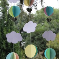 baby decor cribs - meters D Paper Hot Air Balloons Baby Shower Decor Crib Mobile Clouds and Balloons Nursery Mobile Photo Prop