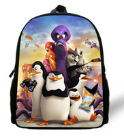 age penguin - 12inch Mochila Madagascar Penguins School Bag Children Boys Backpack Kids Age Mini Bag Mochilas Escolares Infantis