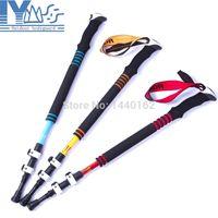 Wholesale Carbon fiber ultralight climbing sticks nordic trekking hiking poles walking sticks with quick lock