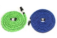 Wholesale Expandable Flexible hose Blue Water Garden Pipe with spray nozzle FT FT FT free ship DHL