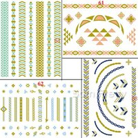 arrow stickers - Triangle Arrow Chains Tattoo Stickers Body Decals Waterproof Paper