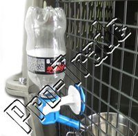 automatic dog water fountain - 100pcs Cat Dog Hanging Bottle Pet Water Drinking Head Dispenser Fountain Feeder Color Random Hold on Cage