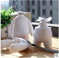 air conditioning charging - 10pcs LJJC1974 Hot Cartoon Big Hero6 BAYMAX Mini Portable USB Charging Fan Super Corp Mini student Hand Charging Air Conditioning Fan