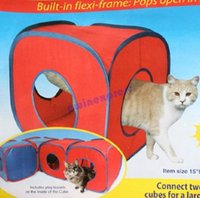 Wholesale hot sale good quality Flexi Frame Kitten Cat Play Cube Small Pet Dog Tent Toy Supply Cat Playground Furniture