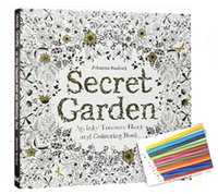 Wholesale By DHL Secret Garden Coloring Book An Inky Treasure Hunt and portable Adult colouring book Children Relax Graffiti Painting Book