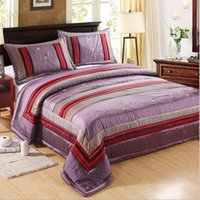 Wholesale 2015 New Pieces Embroidered Decorative Comforter Set Queen Size Bedspread Classical Quilt Set Pillow Shams Machine Washable