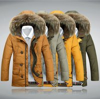 Cheap 2014 New Long 90% Down Mens Winter Jackets Thick Warm Fur Collar Down & Parkas Men