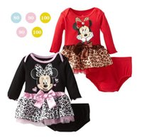 ap clothing - 2016 spring autumn Cartoon Mickey Girls suit Minnie print dress PP shorts baby fashion clothes children suit set AP