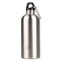 stainless steel water bottle - 600ml Outdoor Sports Stainless Steel Water Bottle Narrow Mouth Drinking Water Bottle Camping Bicycle Cycling Water Bottle Y0533