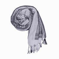 Wholesale New ARAB Windproof Thicken Square Scarf Women Men White Shemagh Desert Hunting Tactical Hijabs Scarves ENN4