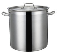 Wholesale Tall Body stainless steel compound sole barrel soup bucket commercial barrel soup large commercial household soup pot