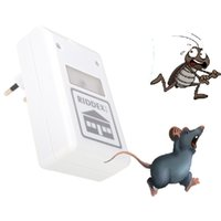 Wholesale Pest Repeller ULF Ultrasonic Waves V Electronic Repeller Control Aid for Ants Spiders Roaches Mouse Mice Repelling White