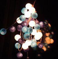 balls handicraft decorative - Handicrafts Wire Knitting Ball Decorative Light String Line Ball Lights Treasure Blue Sky