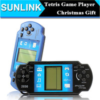 Wholesale 2015 New Arrivel Classical Game Players Handled Tetris Game Console for Kids High Quality Children Educational Christmas Gift DHL Free