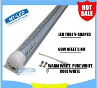 60w led - new T8 Integrated Cooler Door ft m mm W Led T8 V SHAPE Tube SMD2835 High Bright light feet lm V fluorescent lighting
