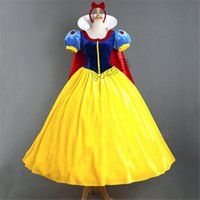 Wholesale adult custom made snow white princess dress cosplay halloween costume party women and girl