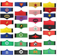 arm bands jewelry - DHL design kids Super hero Wrist super hero wristband superhero Superman Batman Spiderman avengers cosplay armguard arm bands Children