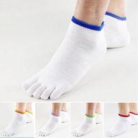 cotton five toe socks - New men s socks men outdoor sport sock mens five toe fingers ankle thin cotton white calcetines hombre calze uomo