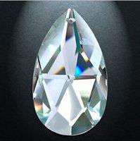 achat en gros de verre expédition prisme libre-30pcs 38mm cristal cristal lustre amande prisme pièces éclairage pendentif livraison gratuite