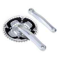 Cheap Mountain Bike MTB Bicycle Crankset Aluminum Alloy 24-34-42T Teeth Chainwheel Crankset Bicycle Crank Sprocket order<$18no track