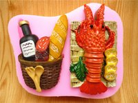 CE / EU baking lobsters - Bread Lobster fondant cake mold silicone mold soap mold chocolate kitchen baking